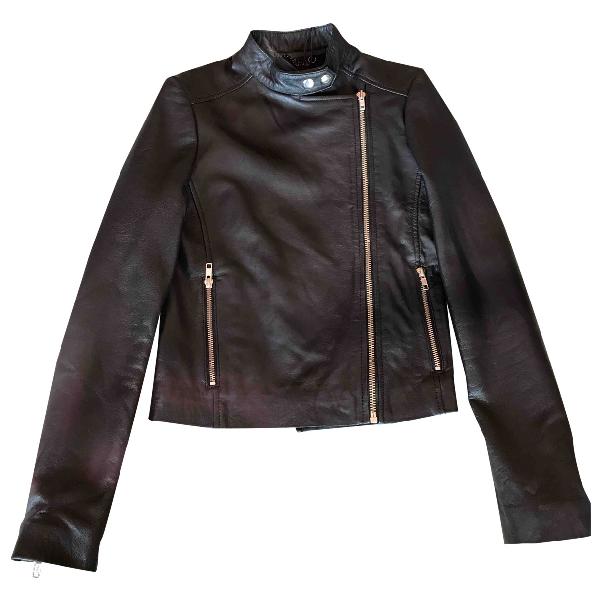 Muubaa Black Leather Leather Jacket