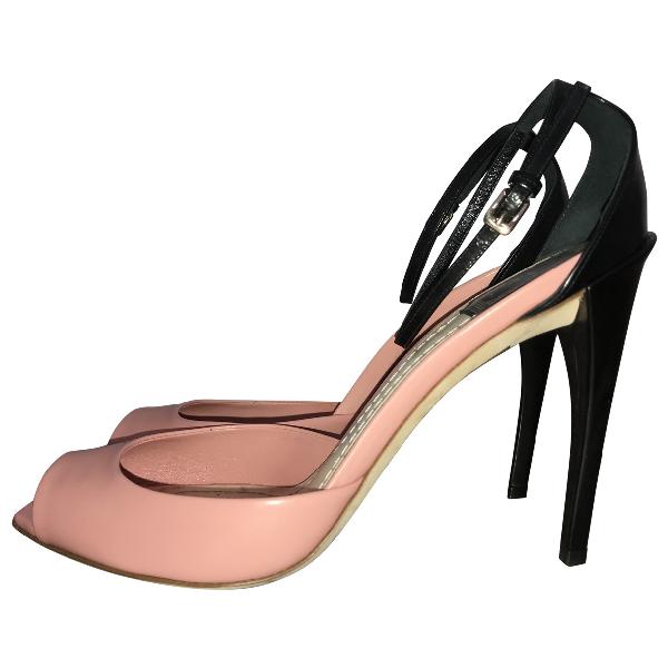 Dior Pink Leather Heels