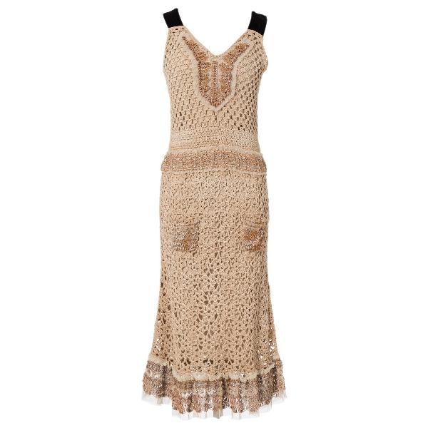 Prada Beige Silk Dress