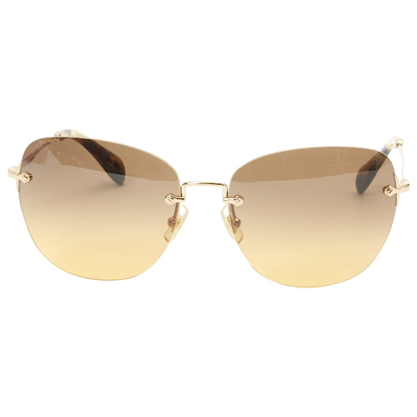 Miu Miu Brown Metal Sunglasses