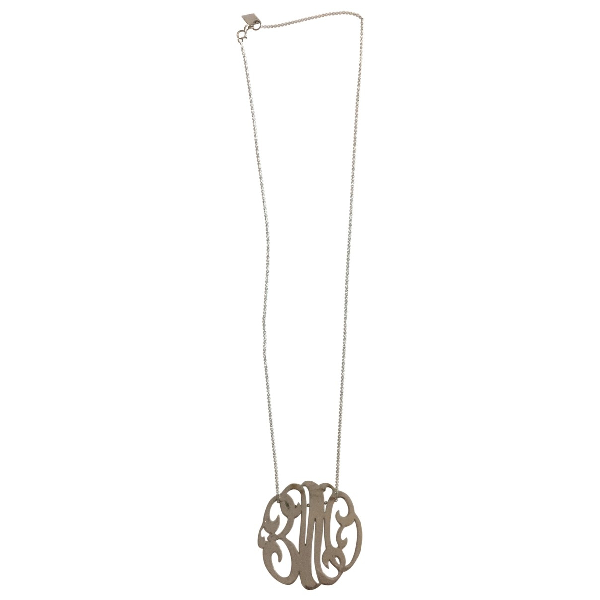 Ginette Ny Monograms Silver White Gold Necklace