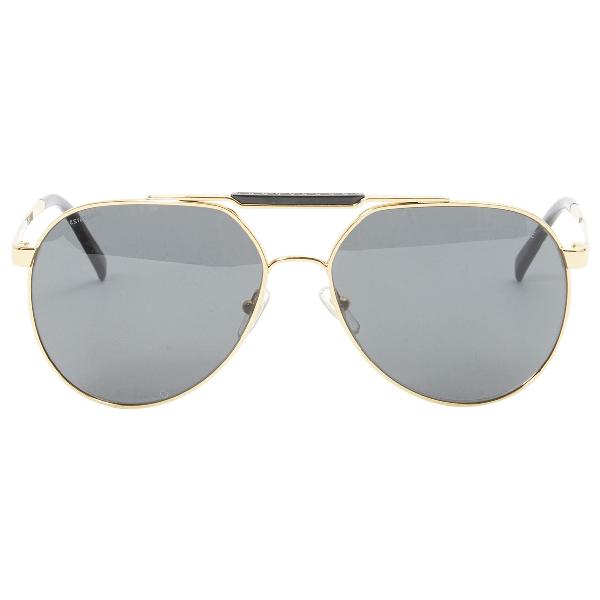 Versace Gold Metal Sunglasses