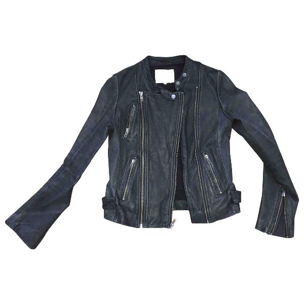 Maje Black Leather Leather Jacket