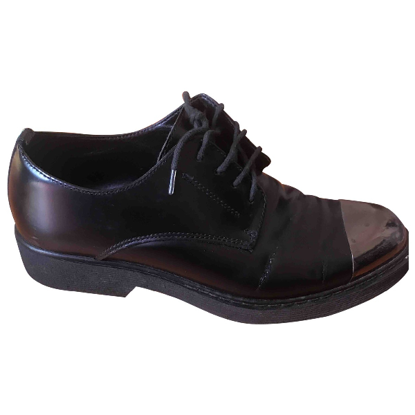 Cult Black Leather Lace Ups