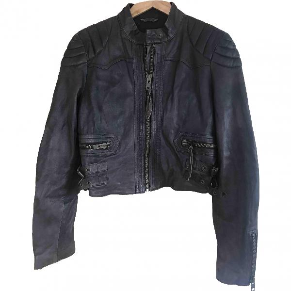 Allsaints Brown Leather Jacket