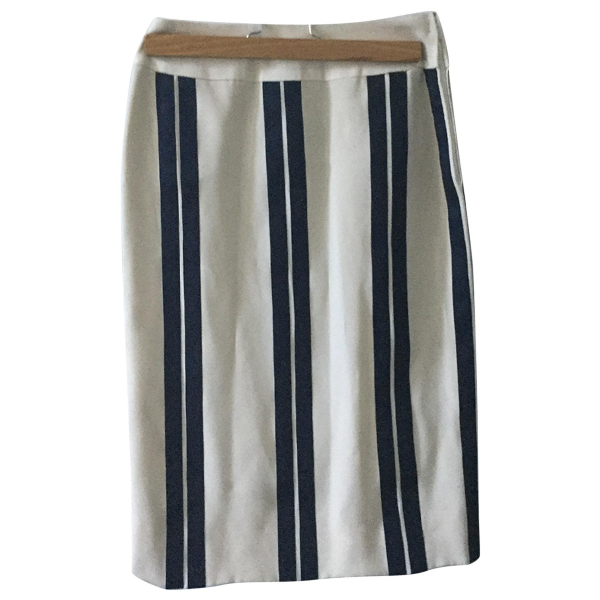Chanel White Cotton Skirt