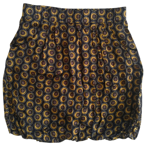 Pinko Multicolour Silk Skirt
