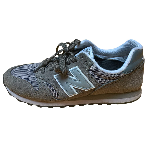 New Balance Grey Leather Trainers