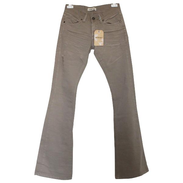 Ottod'ame Beige Denim - Jeans Trousers