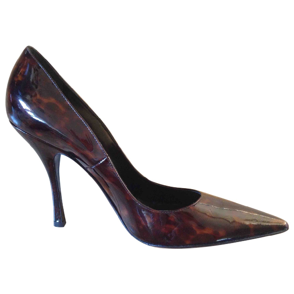 Dsquared2 Brown Patent Leather Heels