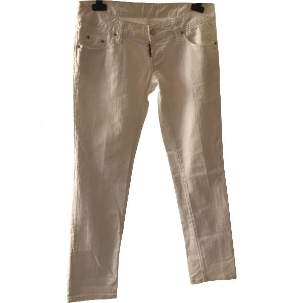 Dsquared2 White Cotton - Elasthane Jeans