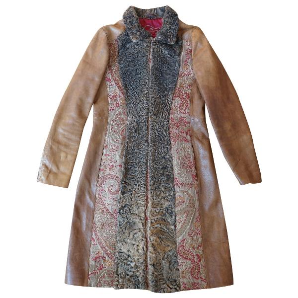 Etro Multicolour Leather Coat