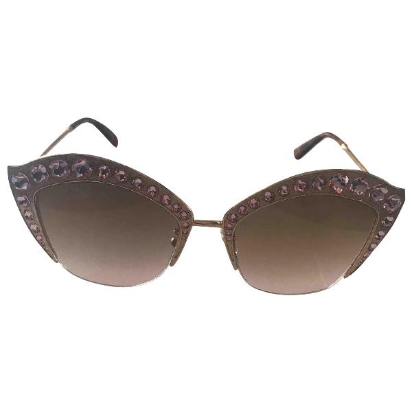 Gucci Gold Metal Sunglasses