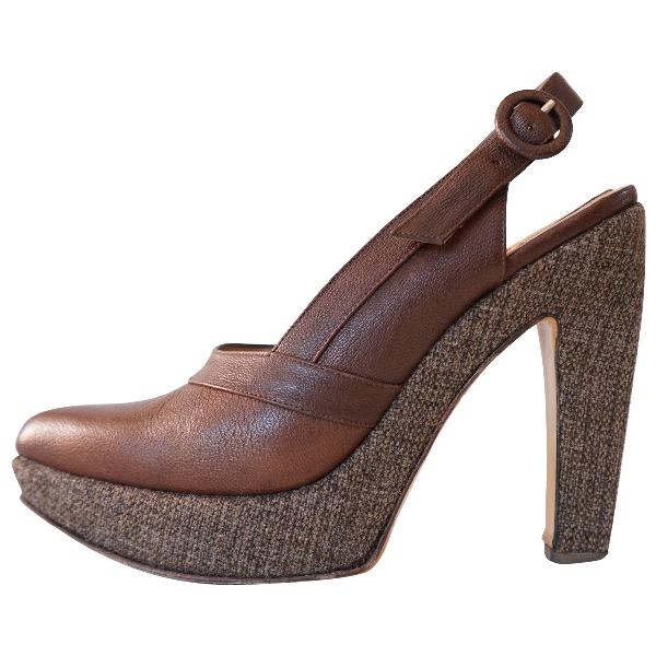 Marni Brown Leather Heels