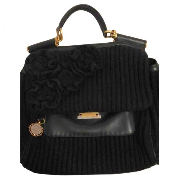 Dolce & Gabbana Black Cloth Handbag