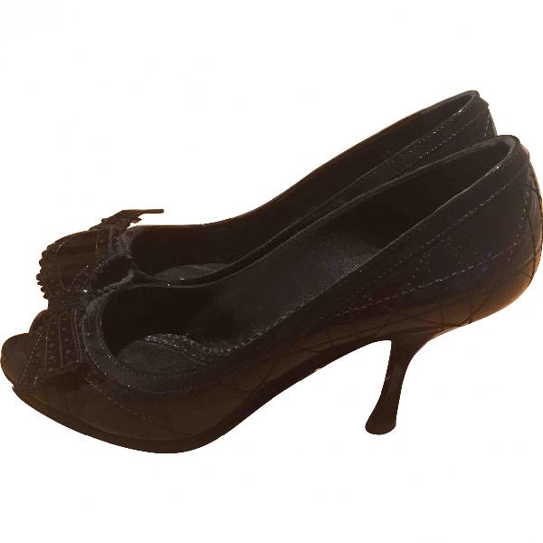 Dior Black Patent Leather Heels