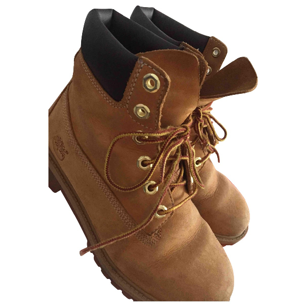 Timberland Beige Leather Ankle Boots