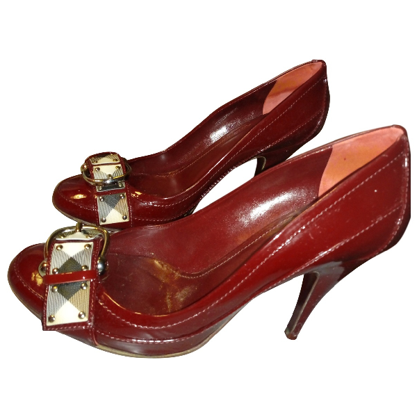 Burberry Burgundy Patent Leather Heels