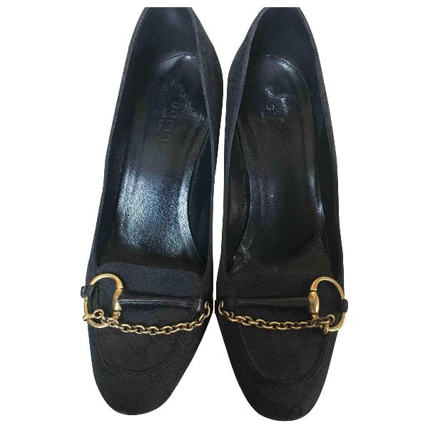 Gucci Black Cloth Heels