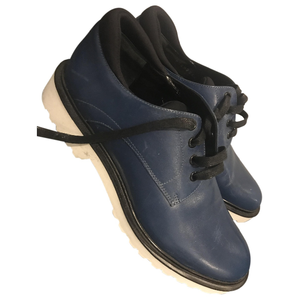 Hugo Boss Blue Leather Lace Ups