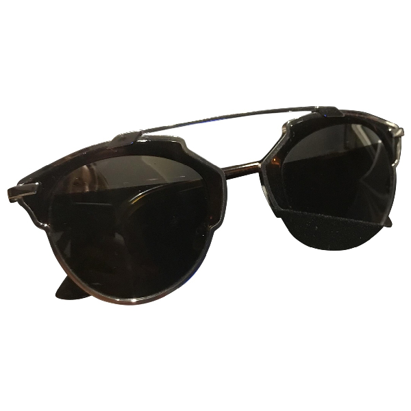 Dior So Real  Silver Metal Sunglasses