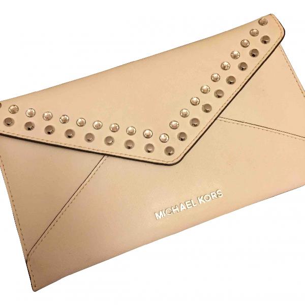 Michael Kors White Leather Clutch Bag