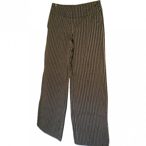 Armani Collezioni Blue Cotton Trousers