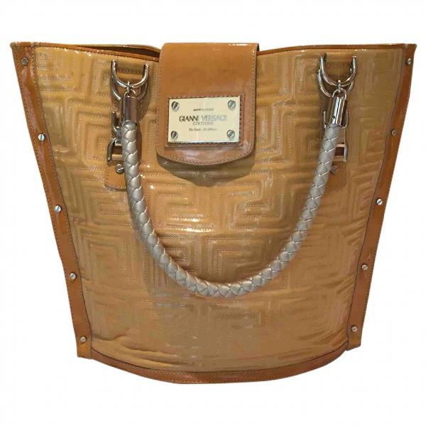 Versace Yellow Leather Handbag