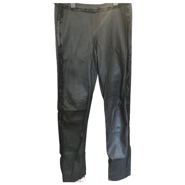 Isabel Marant Black Leather Trousers
