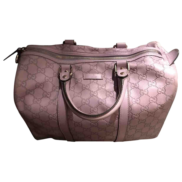 Gucci Purple Leather Handbag