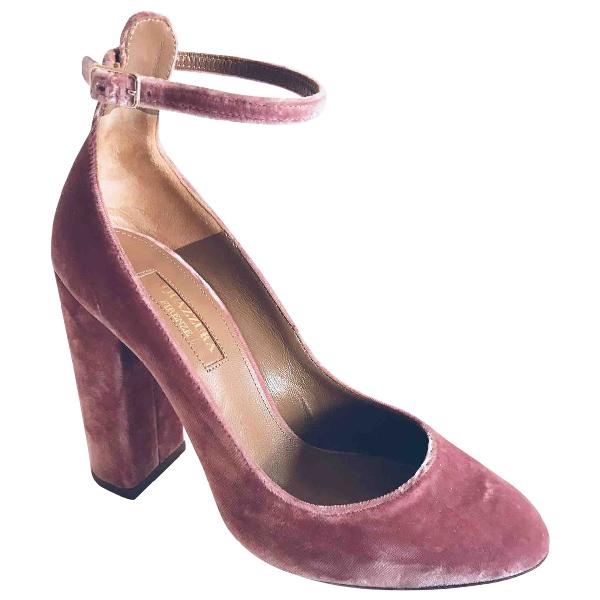 Aquazzura Pink Velvet Heels