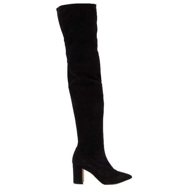 Bionda Castana Black Suede Boots