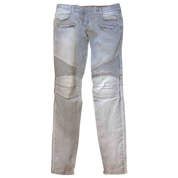 Balmain Grey Cotton - Elasthane Jeans