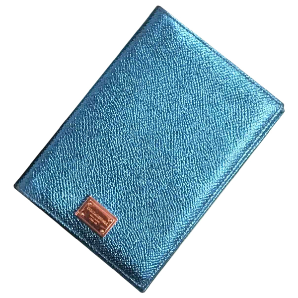 Dolce & Gabbana Blue Leather Purses, Wallet & Cases