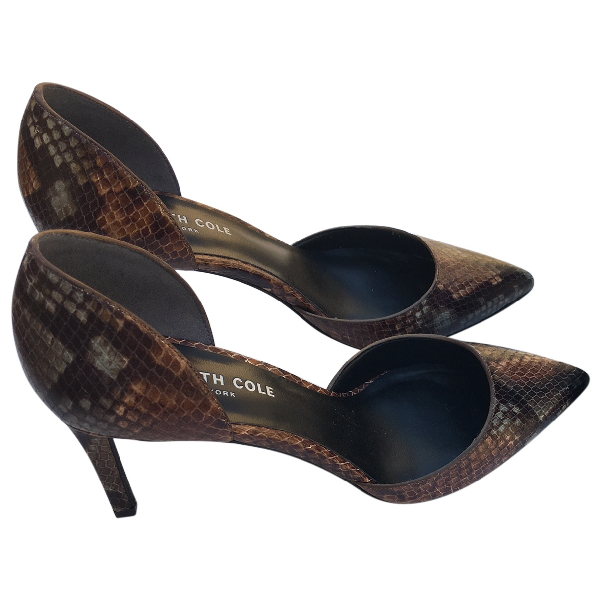 Kenneth Cole Brown Leather Heels