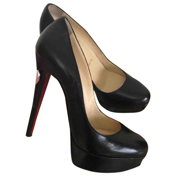 Christian Louboutin Bianca Black Leather Heels
