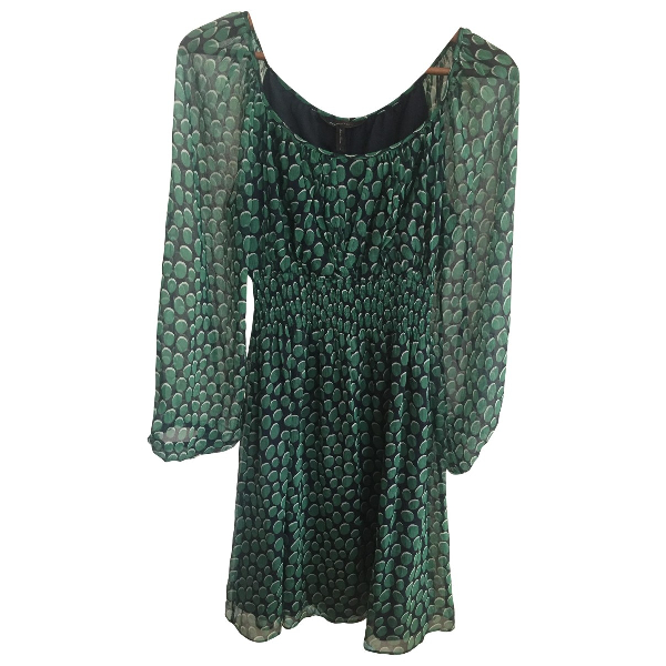 Bcbg Max Azria Green Silk Dress