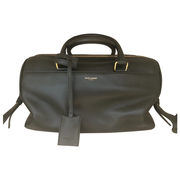 Saint Laurent Duffle Green Leather Handbag
