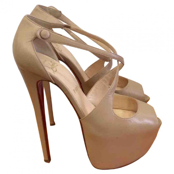 Christian Louboutin Beige Leather Sandals