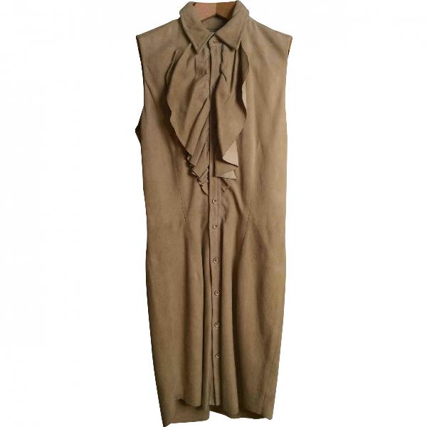 Polo Ralph Lauren Camel Suede Dress