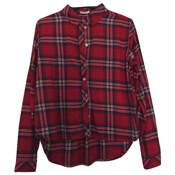 Tommy Hilfiger Red Cotton  Top