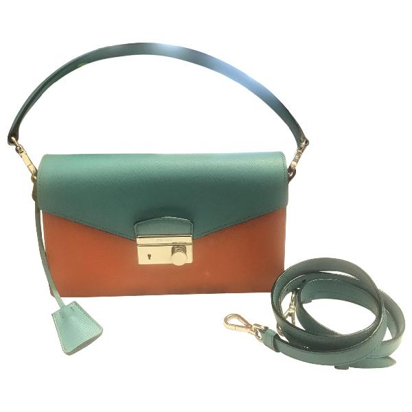 Prada Orange Leather Handbag