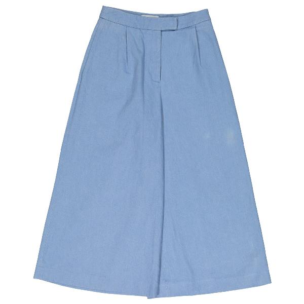 Osman Blue Cotton Trousers