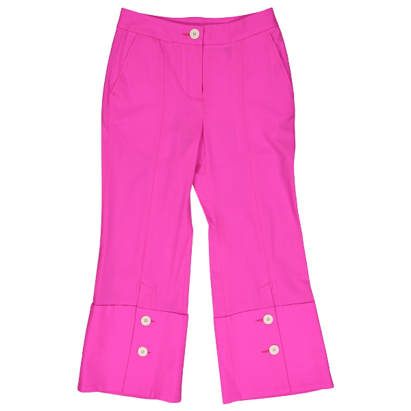 Eudon Choi Pink Wool Trousers