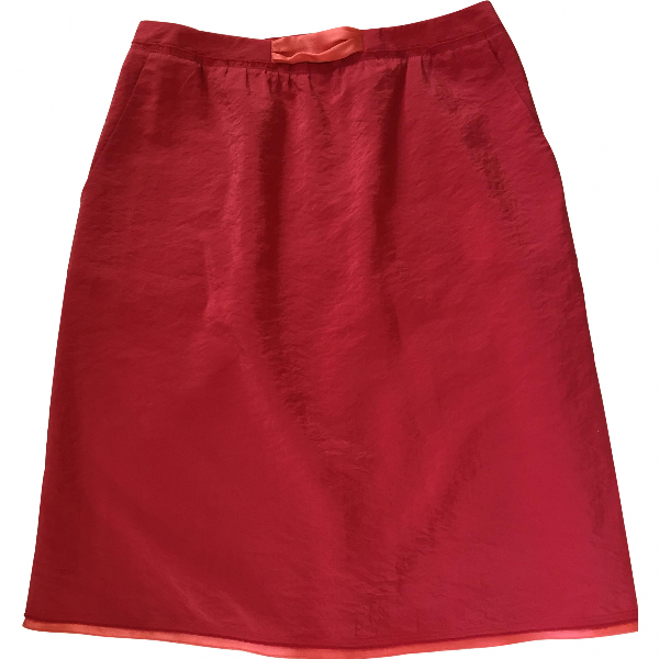 Paule Ka Pink Silk Skirt