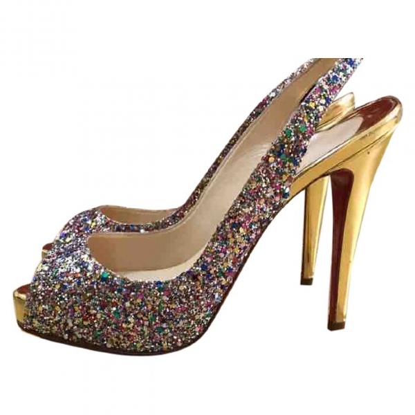 Christian Louboutin Multicolour Glitter Heels