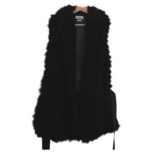 Zadig & Voltaire Black Faux Fur Coat