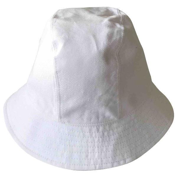 Fendi White Cotton Hat
