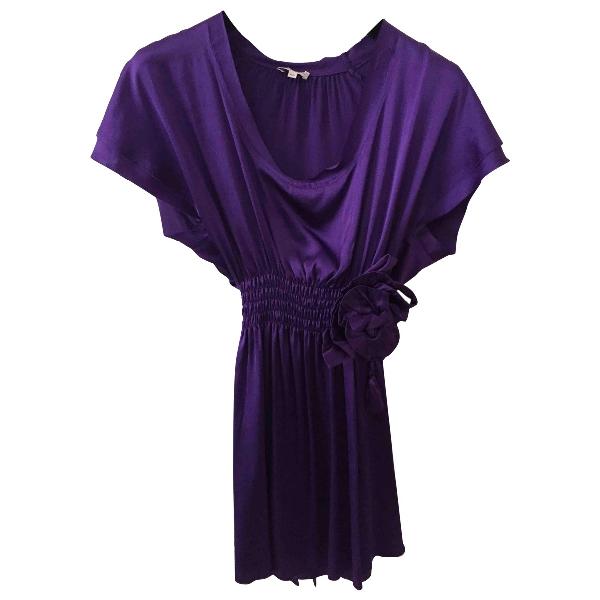 Parosh Purple Silk  Top