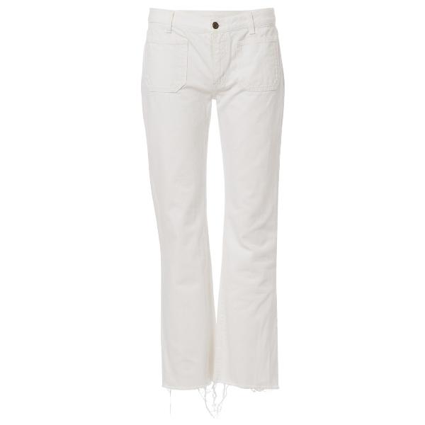 Saint Laurent White Cotton Jeans